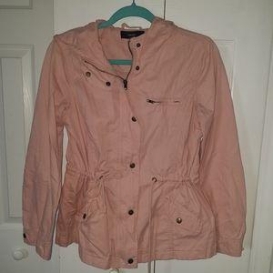 F21 light pink utility jacket